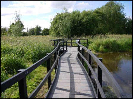 The extension to the Boardwalk leading  to the new pond dipping platform