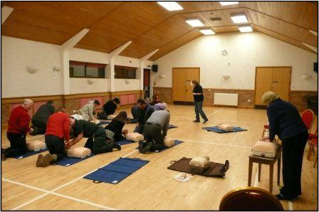 Photo of one of the CPR and defibrillator training courses