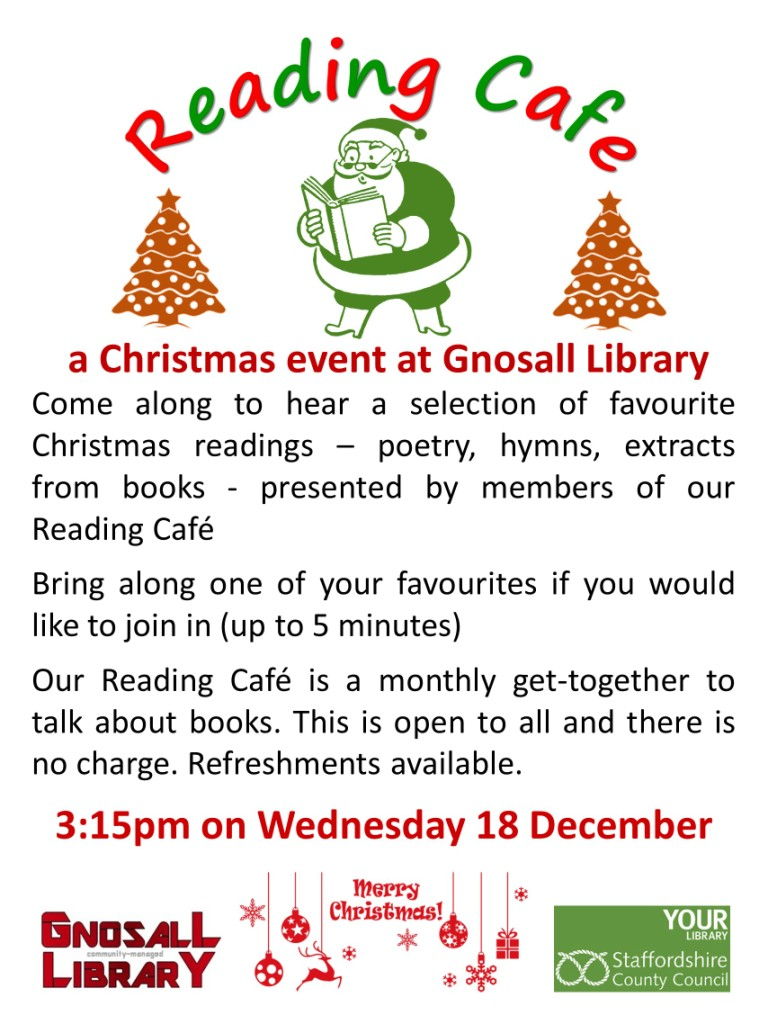 Wed 18 Dec at Gnosall Library